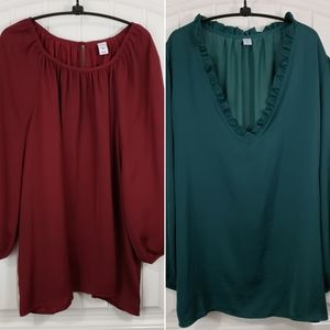 Old Navy 2 Crepe Long Sleeve Shirts XXL